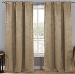 "TRIPLE LAYERED WOVEN 84"" CURTAINS"